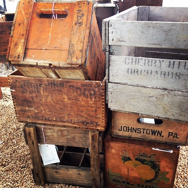 Crates galore coming in! Just a few of many!  #luckettstore #vintagehip
