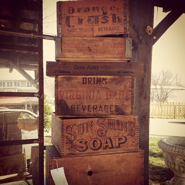 More awesome crates #luckettstore #vintagehip
